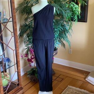 "Ramy Brook ""Lulu"" Navy Silk Jumpsuit"